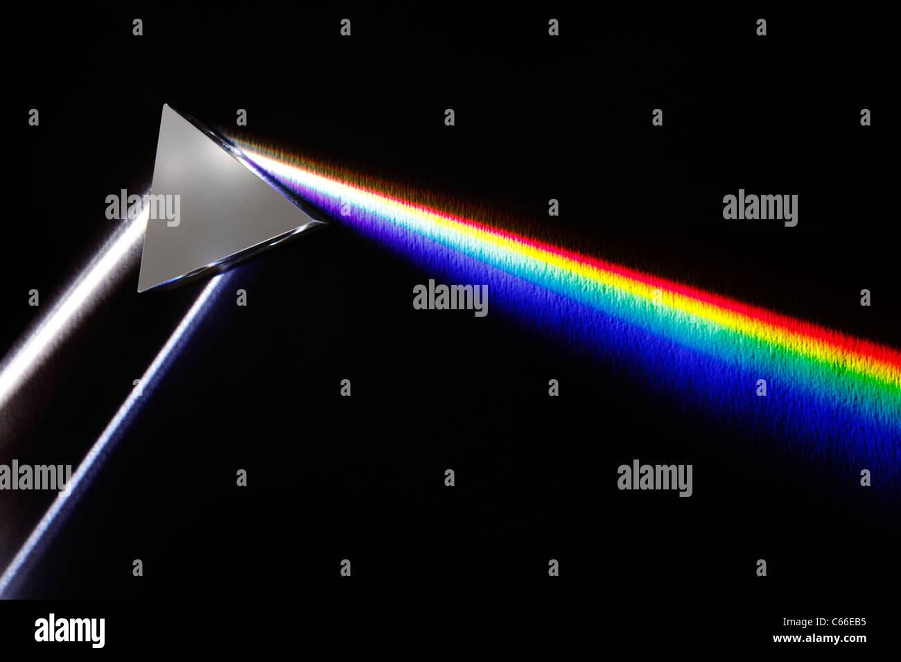 Weißes Lichtspektrum Stockbild