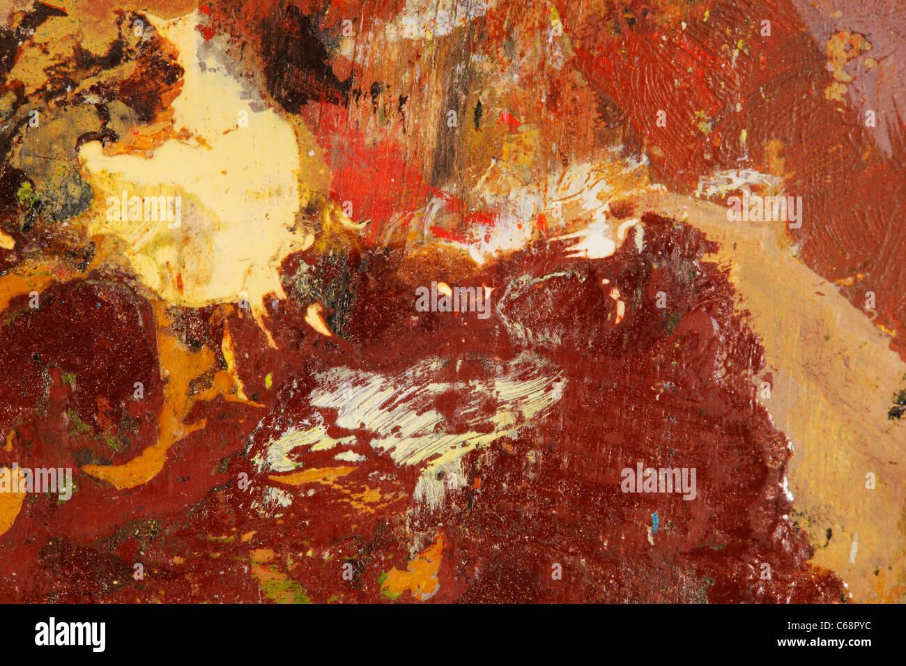 Abstraktionen der verschmierten Ölfarben Stockbild