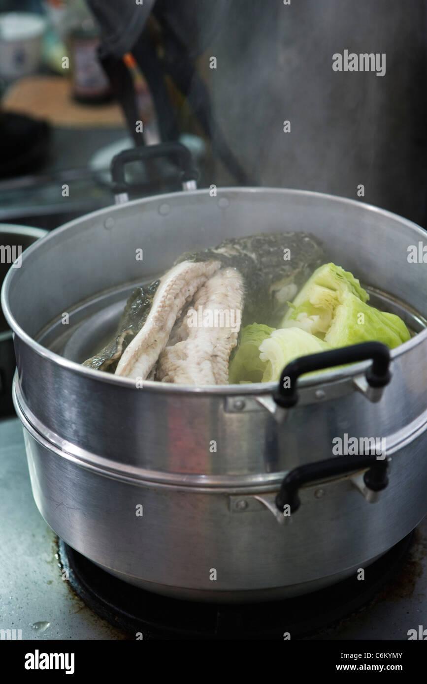Kochen Wels Stockbild