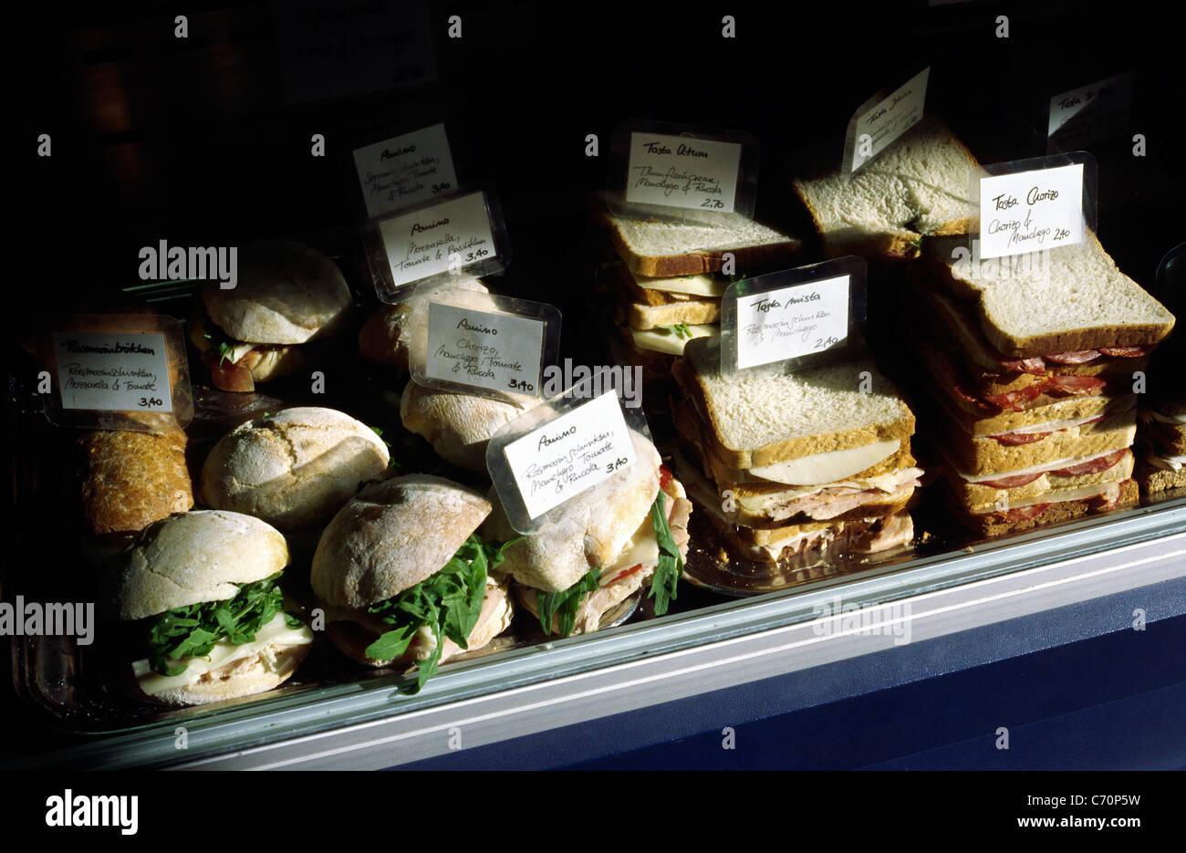 Portugiesische Sandwich-Shop im Berliner Bezirk Mitte. Stockbild