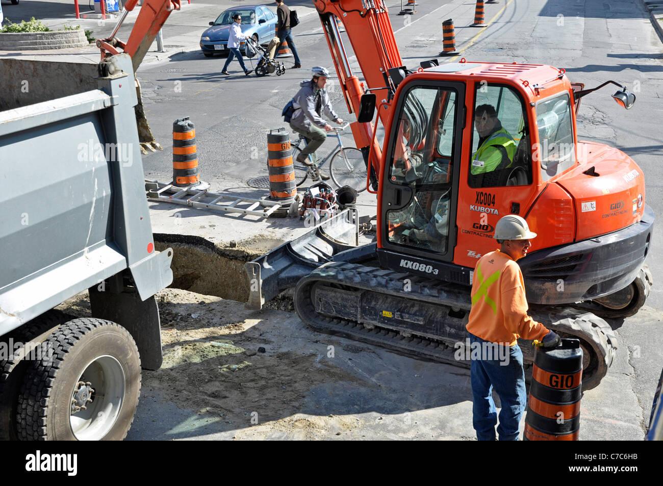 Baustellen, Men at Work Stockbild