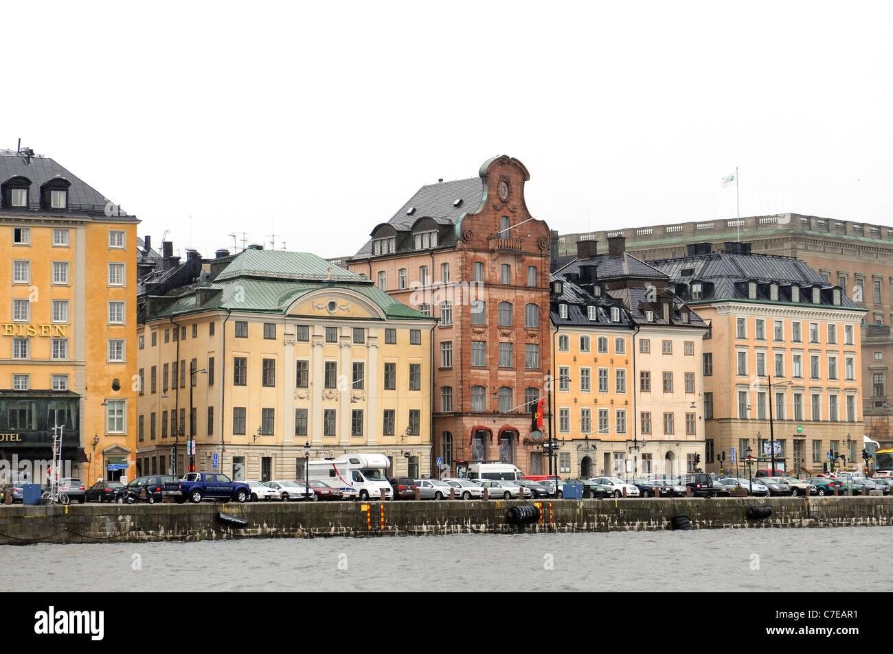 Aussicht auf Gamla Stan Stockholm Stockbild