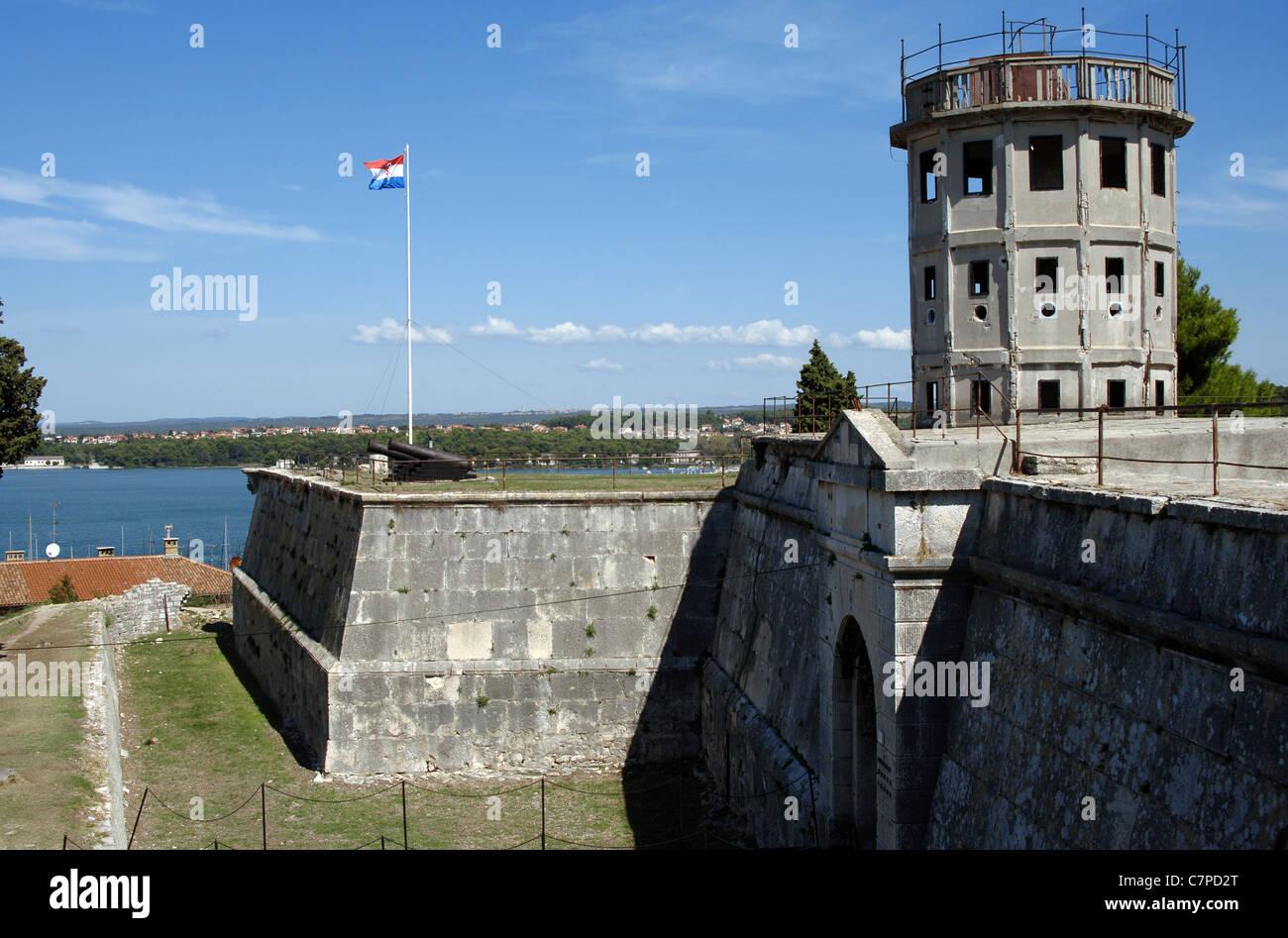 Kroatien. Pula. Venezianische Zitadelle. 17. Jahrhundert. Stockbild