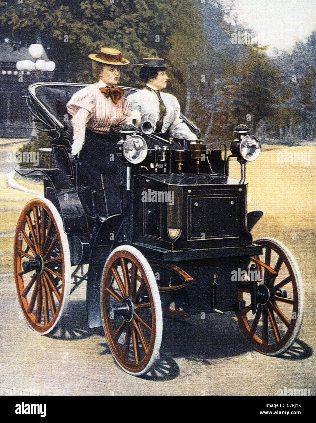 PANHARD ET LEVASSOR Daimler Motorkutsche 1894 Stockbild
