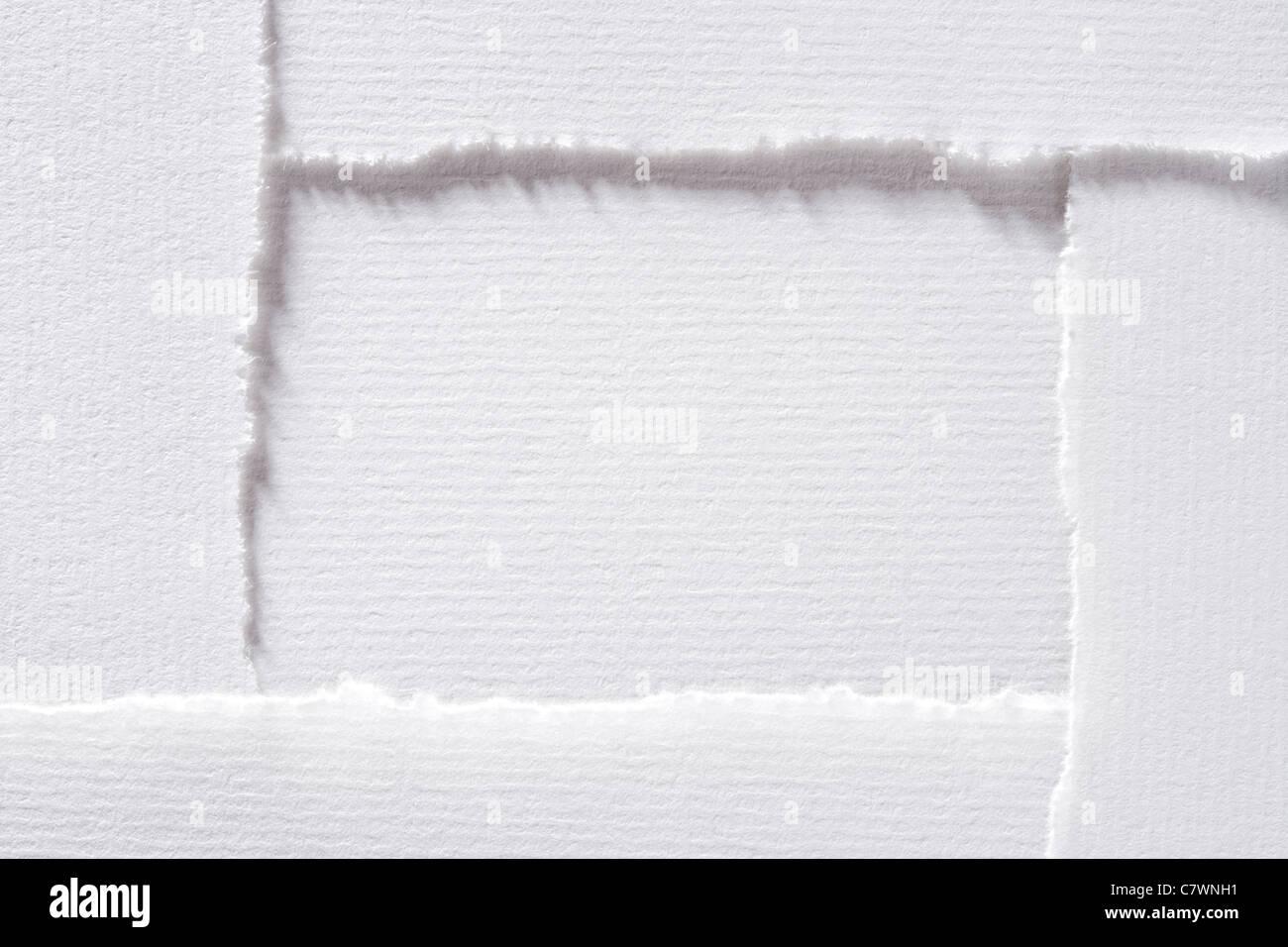 Zerrissenes Papier bilden Rechteck. Stockbild