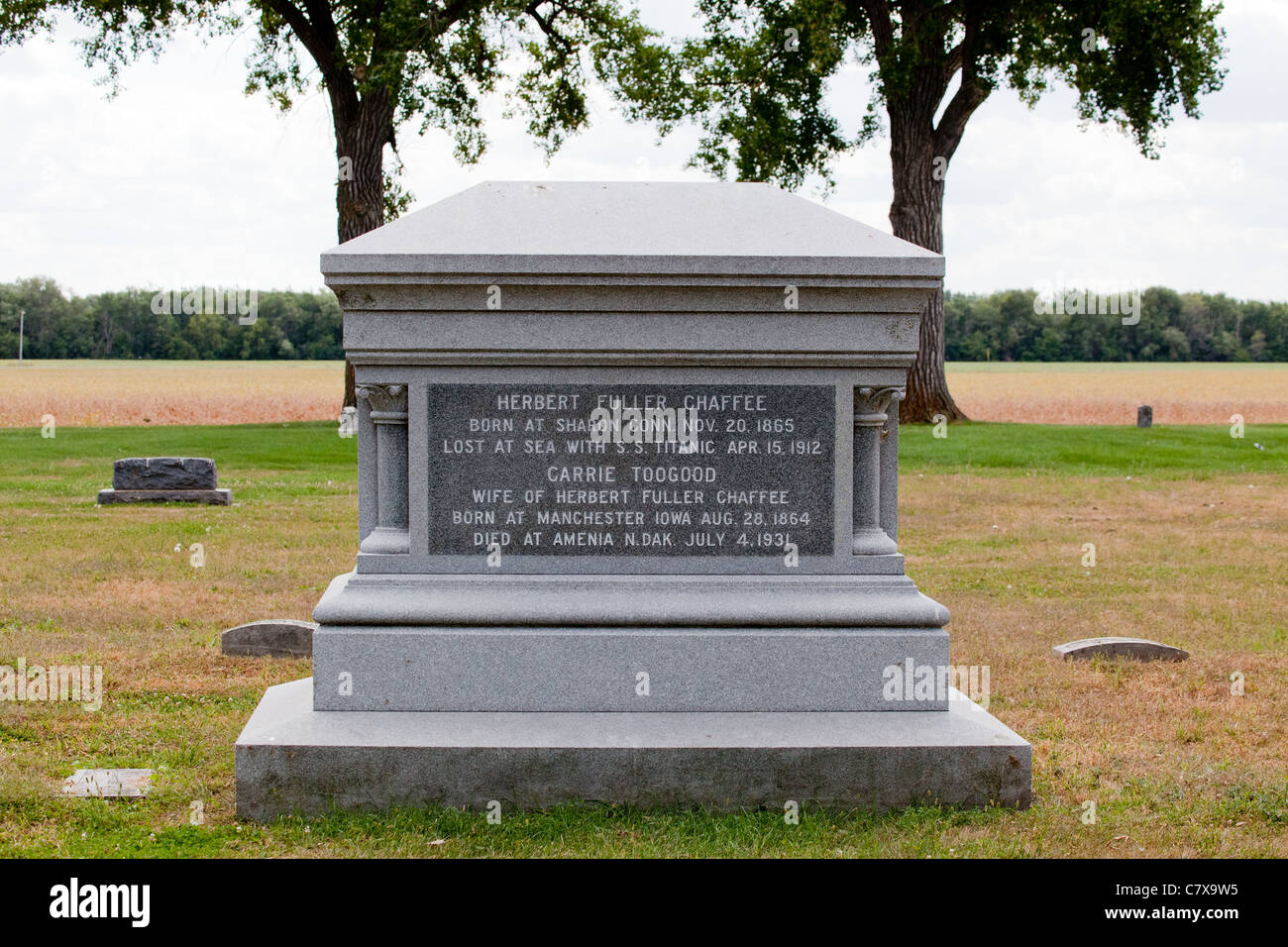 Titanic Memorial Graveside Marker Stockbild