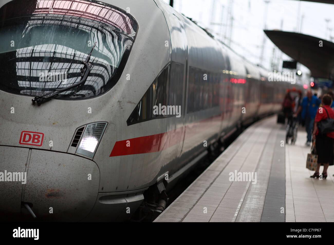 Deutsche Bahn Bahnhof Frankfurt Main Bahnhof im Bundesland Hessen. Stockbild