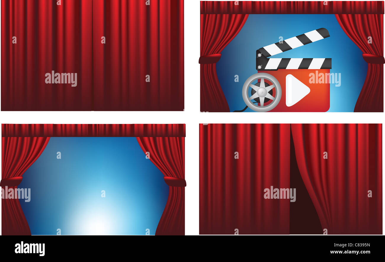 open curtains stockfotos open curtains bilder alamy. Black Bedroom Furniture Sets. Home Design Ideas