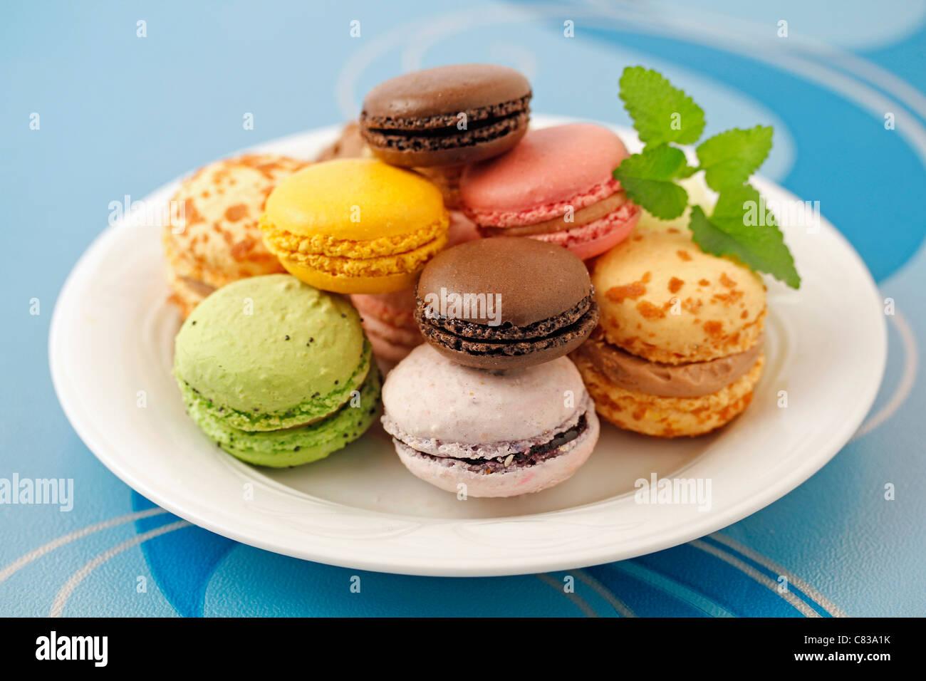 Makronen. Typische französische Küche. Stockbild