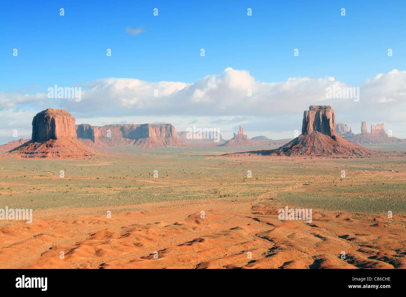Monument Valley-Blick vom Künstler Point Stockbild