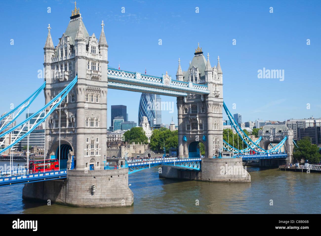 England, London, Tower Bridge Stockbild