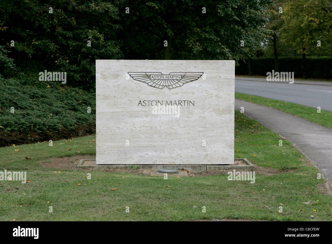Aston Martin Gaydon Hauptsitz Stockbild