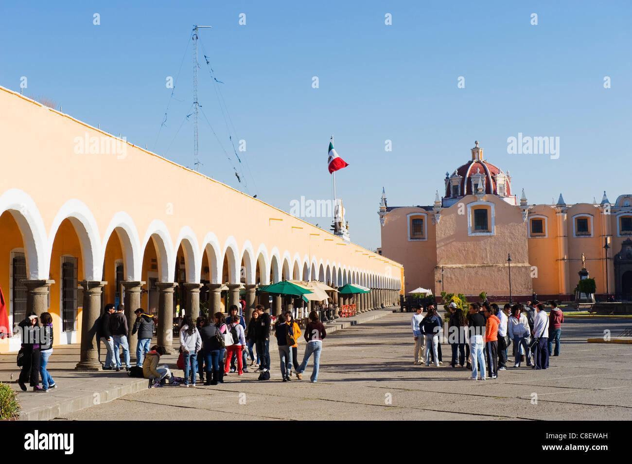 Portal-Guerrero, Mexiko Zocalo Bögen, Cholula, Puebla Zustand Stockbild