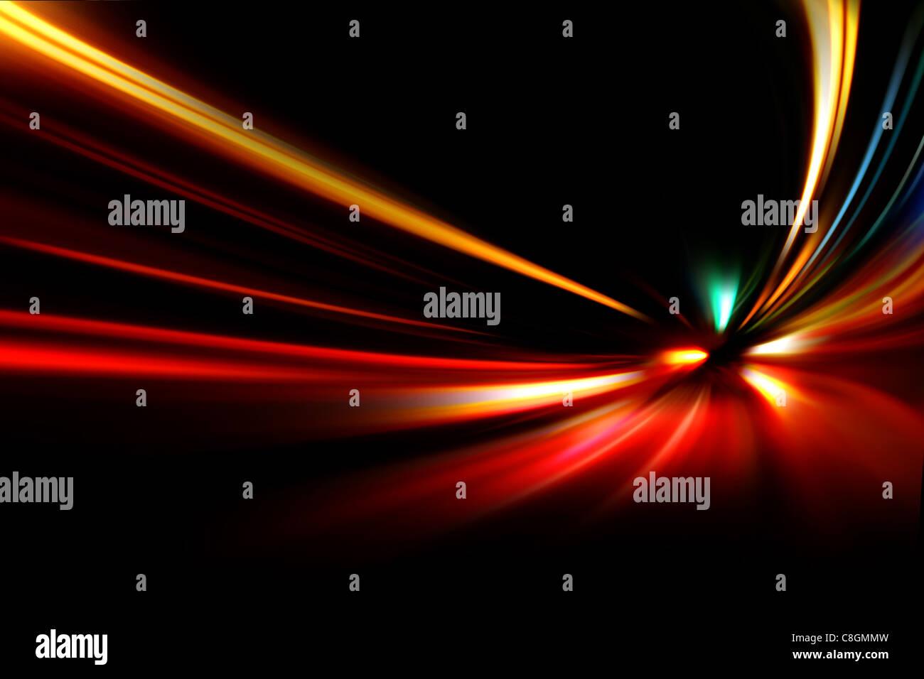Nacht-Geschwindigkeit-Bewegung Stockbild