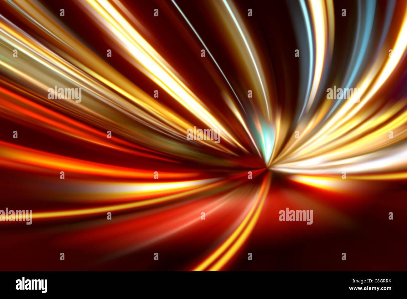 Beschleunigung der Bewegung Nacht unterwegs Stockbild