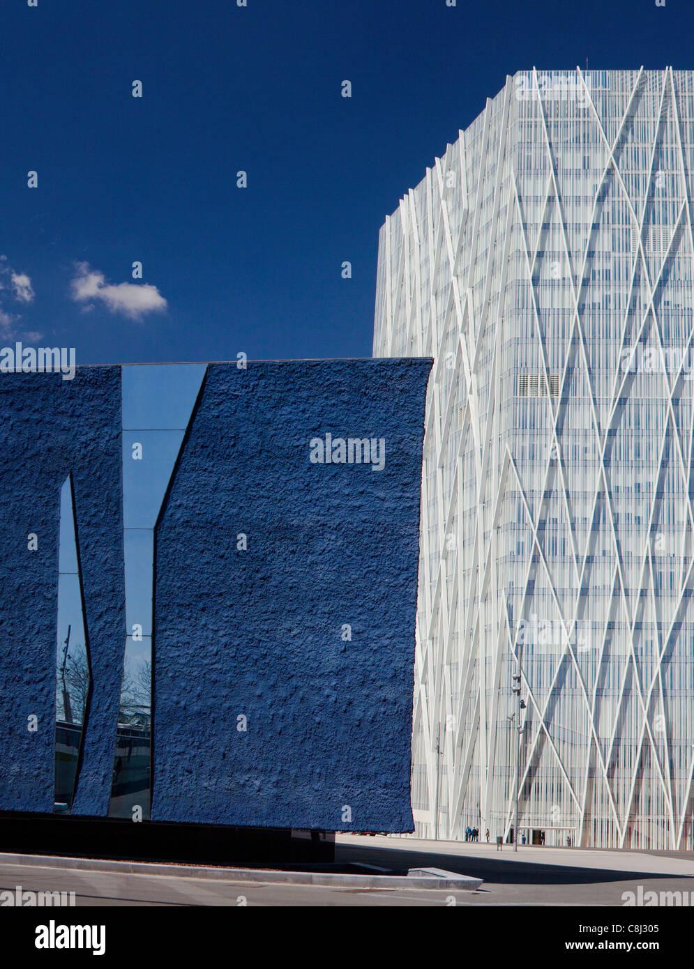 Catalunya, Barcelona, Spanien, Europa, Diagonal Mar, Gebäude, Architektur, Modern, Forum Stockbild