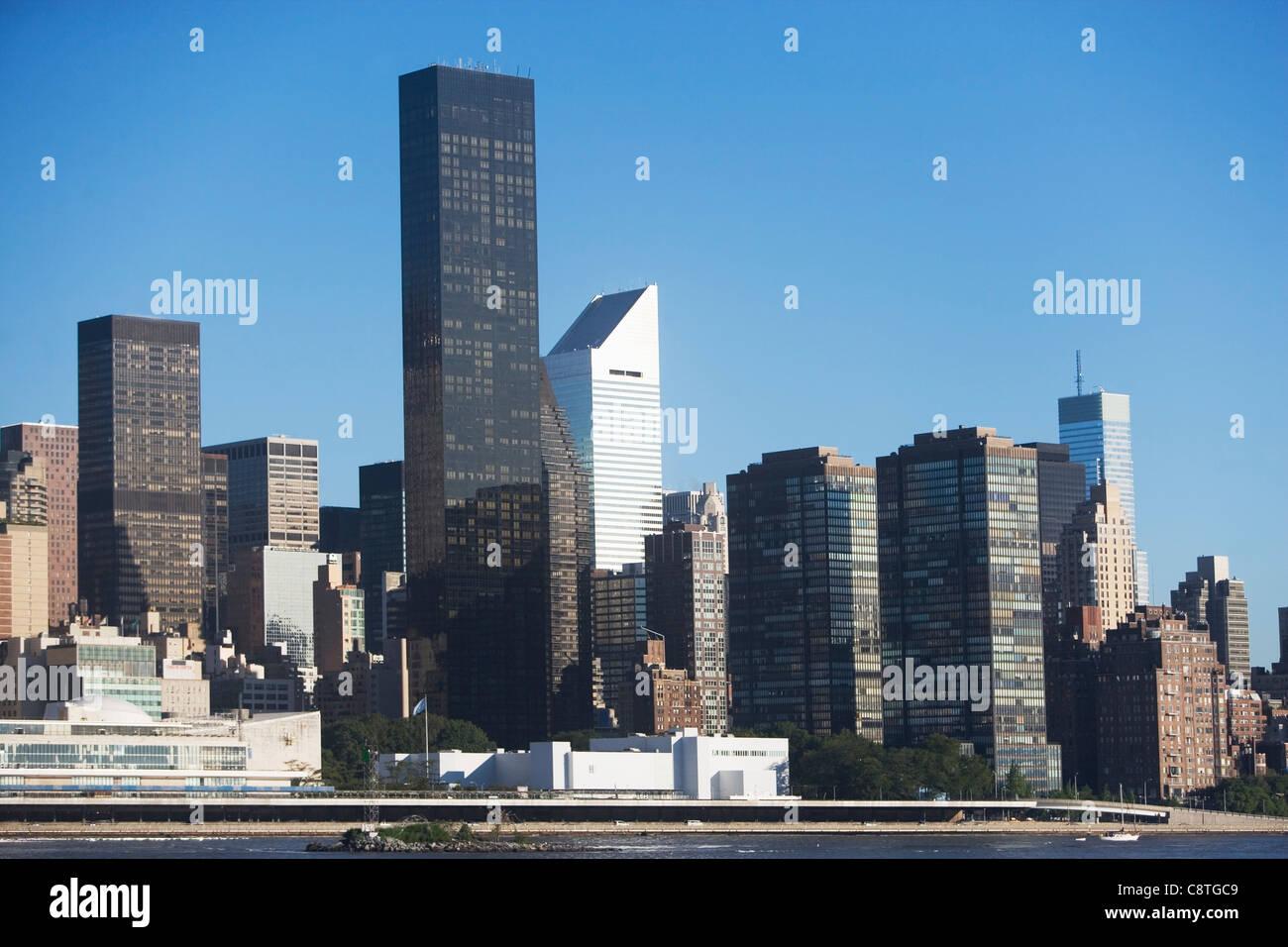 USA, New York State, New York City, Manhattan, weltweit Trump Plaza Stockbild