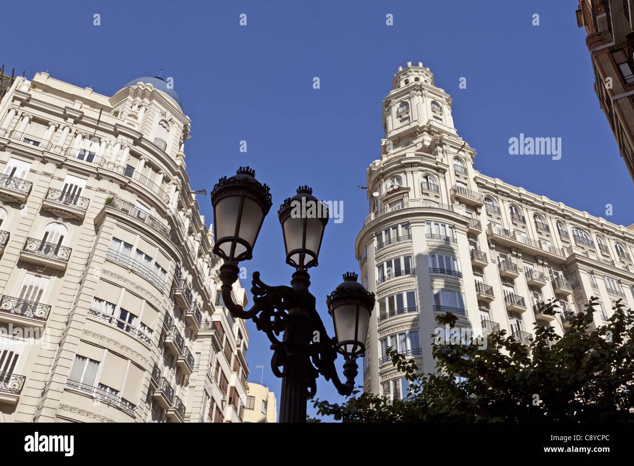 Modernisme Buildling im alten Stadtzentrum von Valencia, Spanien Stockbild