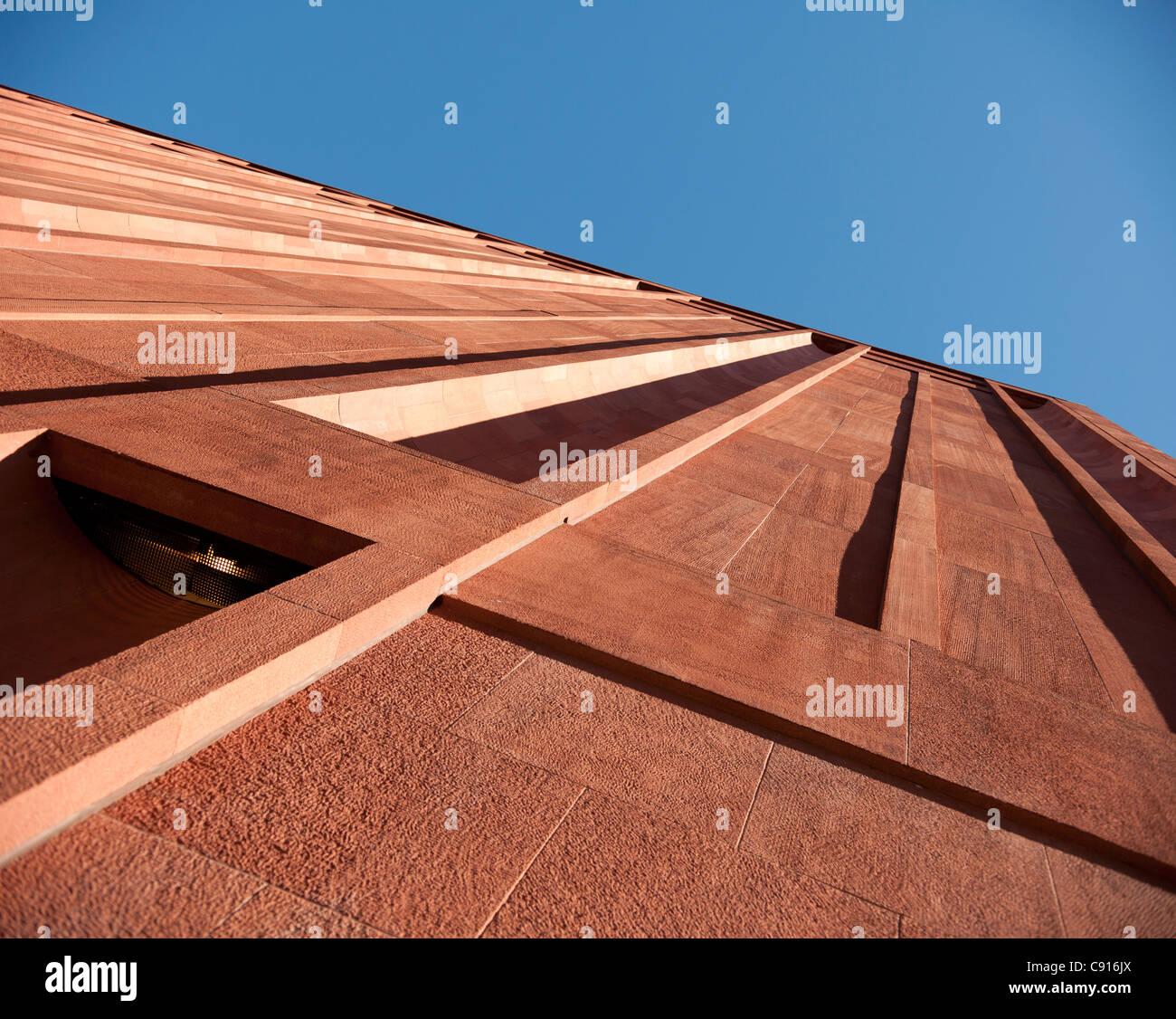Studie des äußeren der Gebäude in Manhattan in der Nähe von Washington Square zeigt, dass sogar Stockbild