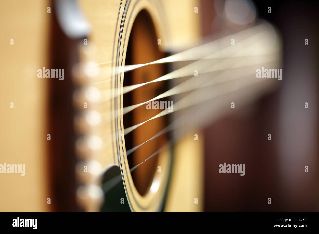 Akustische Gitarre abstrakt Stockfoto