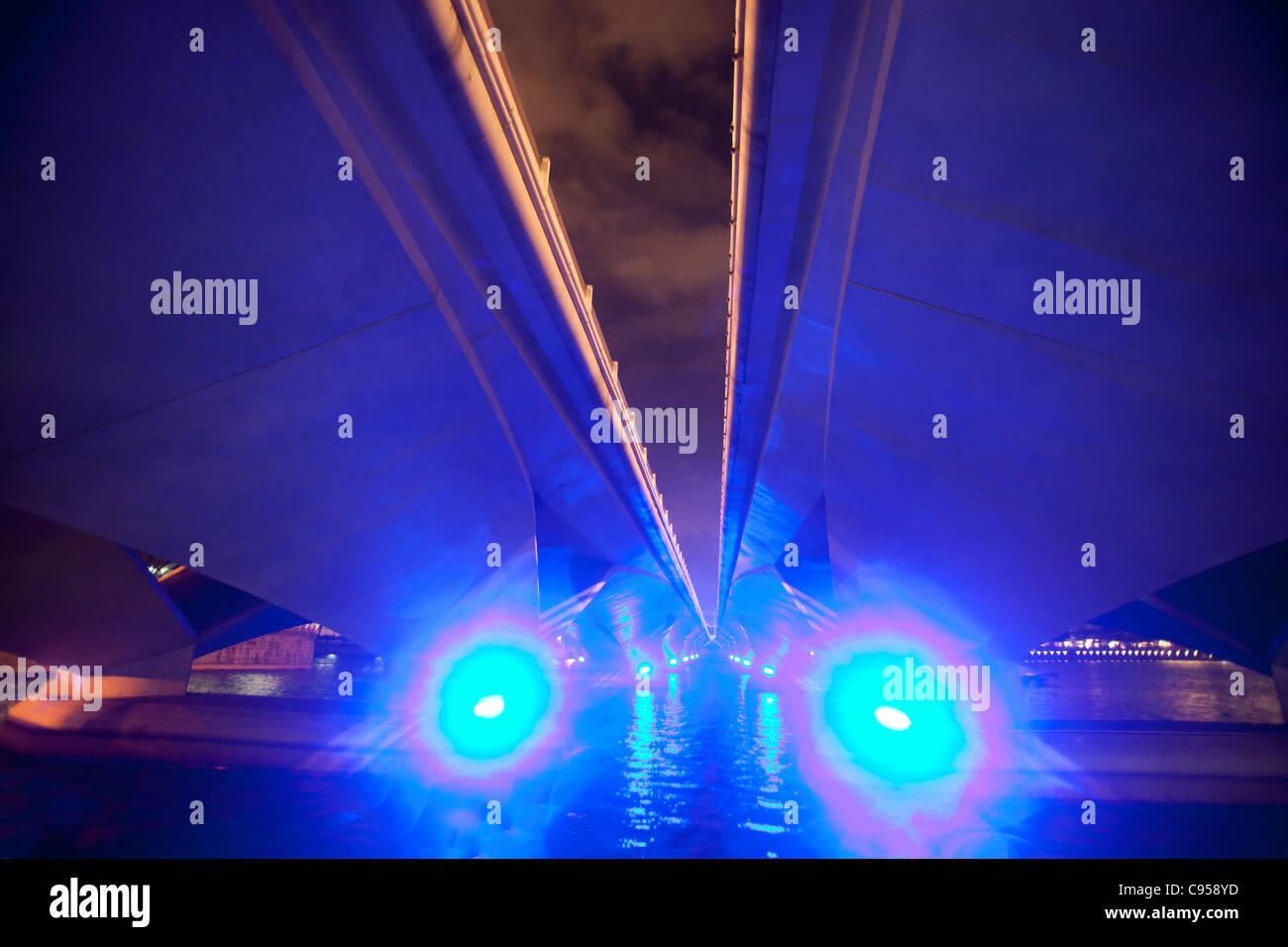 Unterseite der Brücke, Singapur Stockbild