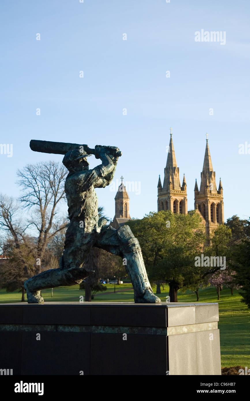 Statue des Don (Sir Donald Bradman).  Adelaide, South Australia, Australien Stockbild