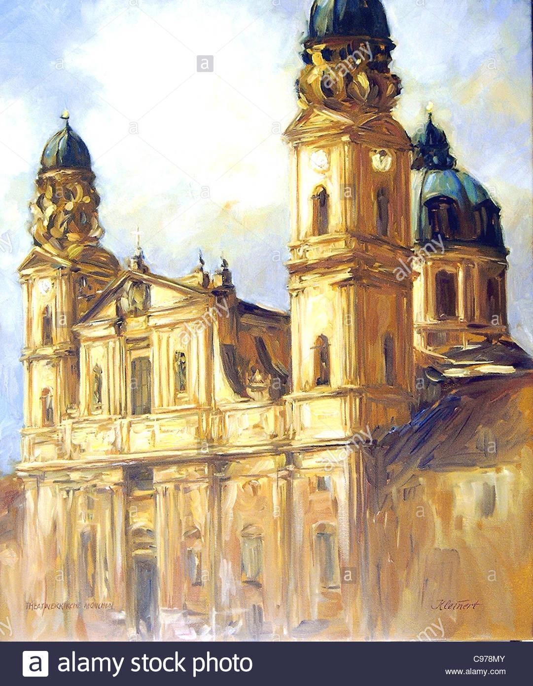 Theatinerkirche München Stockfoto