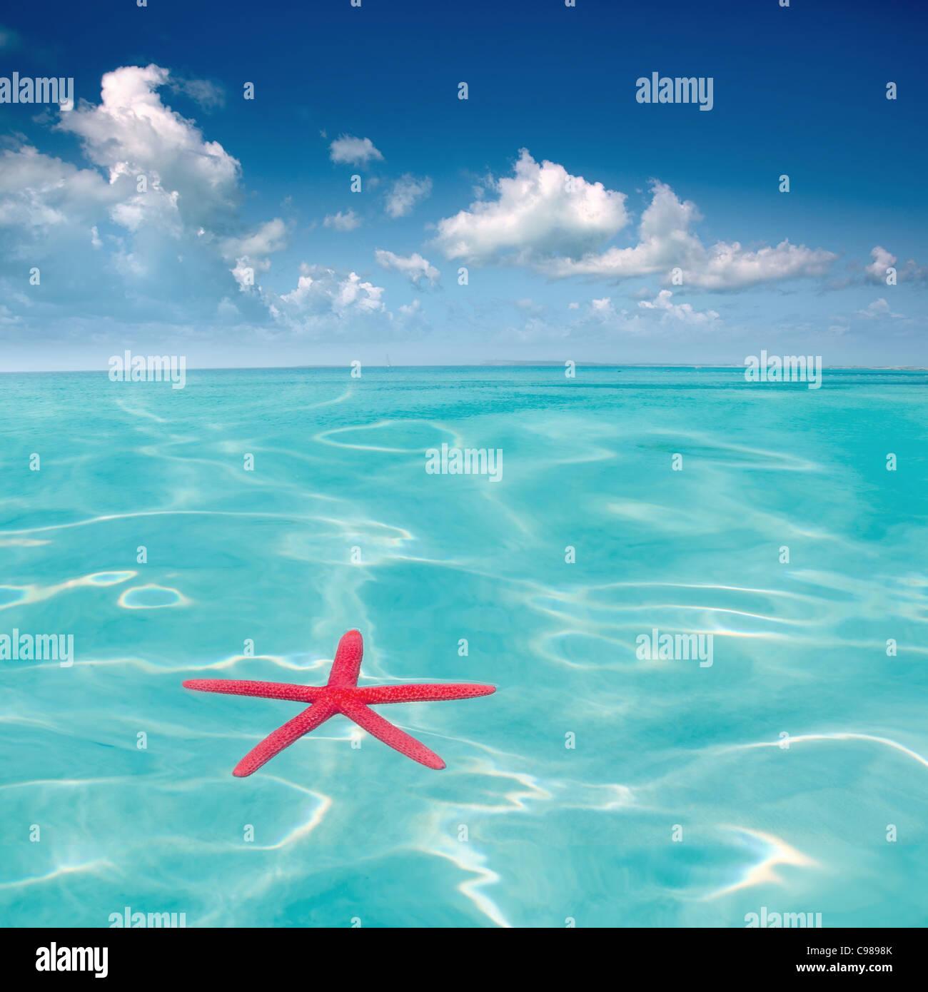 Karibik-Strand in perfekter Tag Stockbild