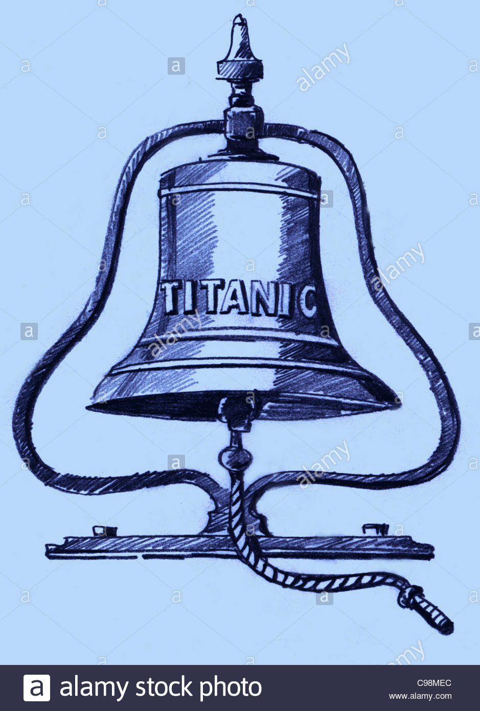 Schiffs Glocke die Titanic Stockbild