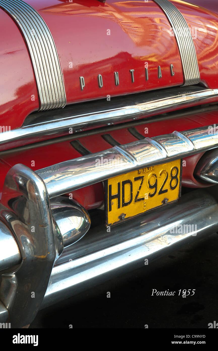 Pontiac 1955 Havanna Kuba Stockbild