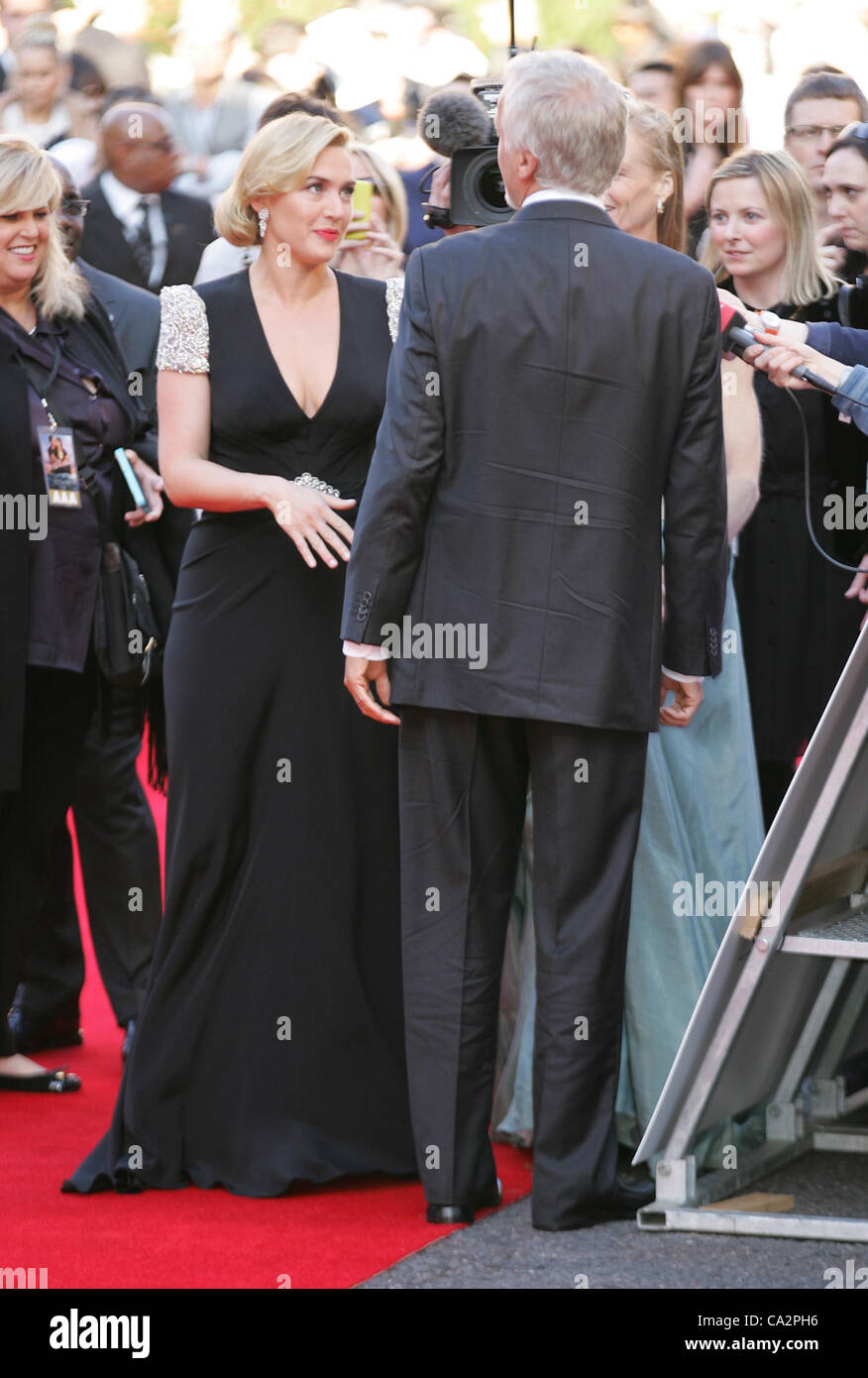 Kate Winslet besucht die Titanic 3D - Welt-Premiere in der Royal Albert Hall in London Stockbild