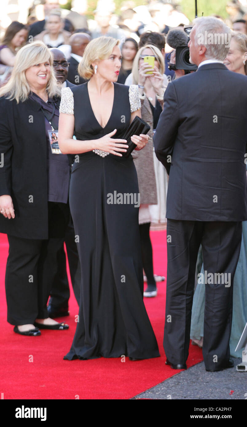 Kate Winslet besucht die Titanic 3D - Welt-Premiere in der Royal Albert Hall in London Stockbild