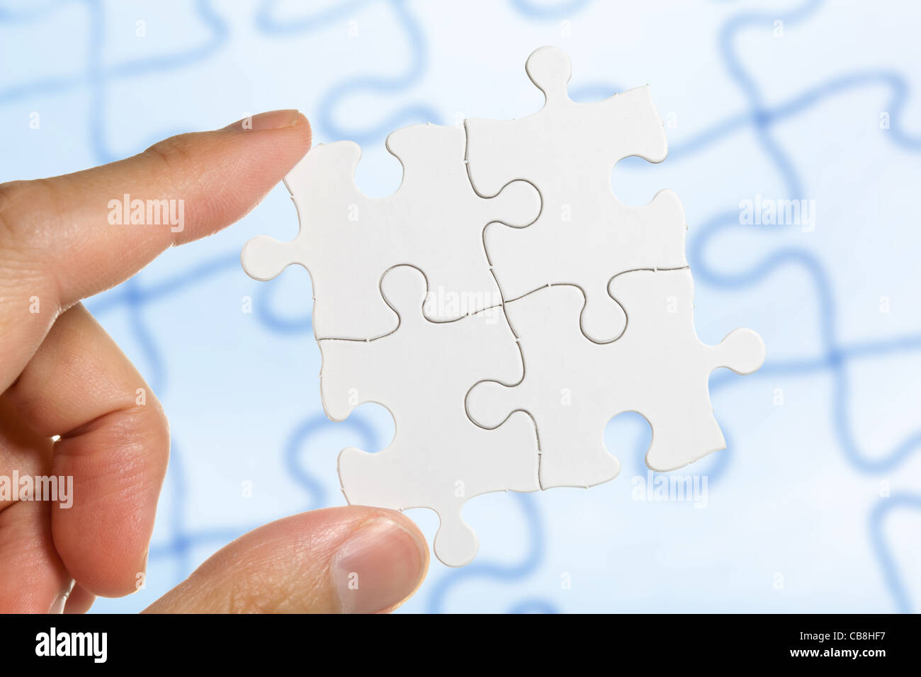 White Blank Puzzle, Business-Konzept Stockbild