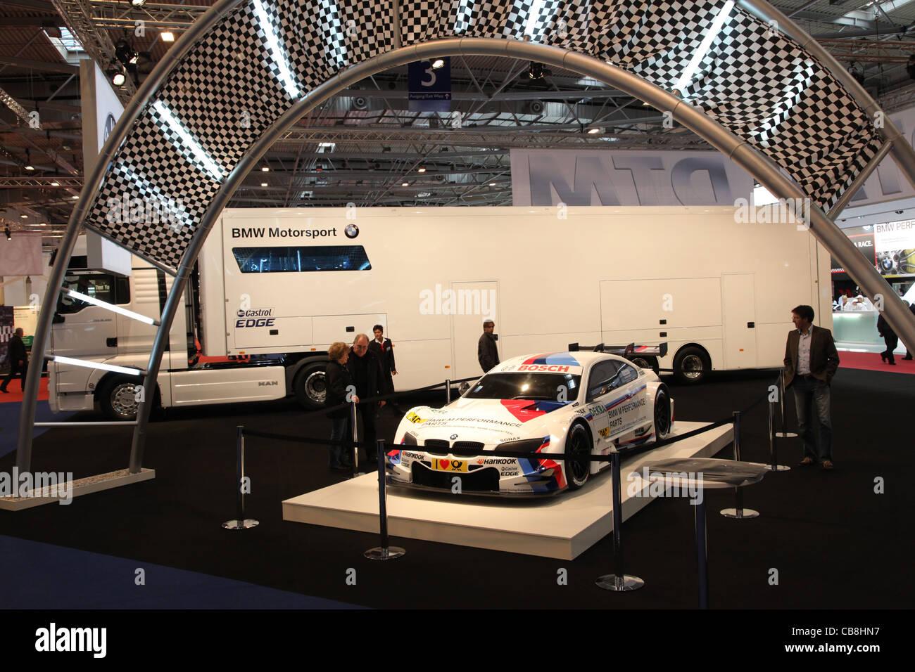 BMW Motorsport stehen auf der Essen Motor Show in Essen, Deutschland, am 29. November 2011 Stockbild