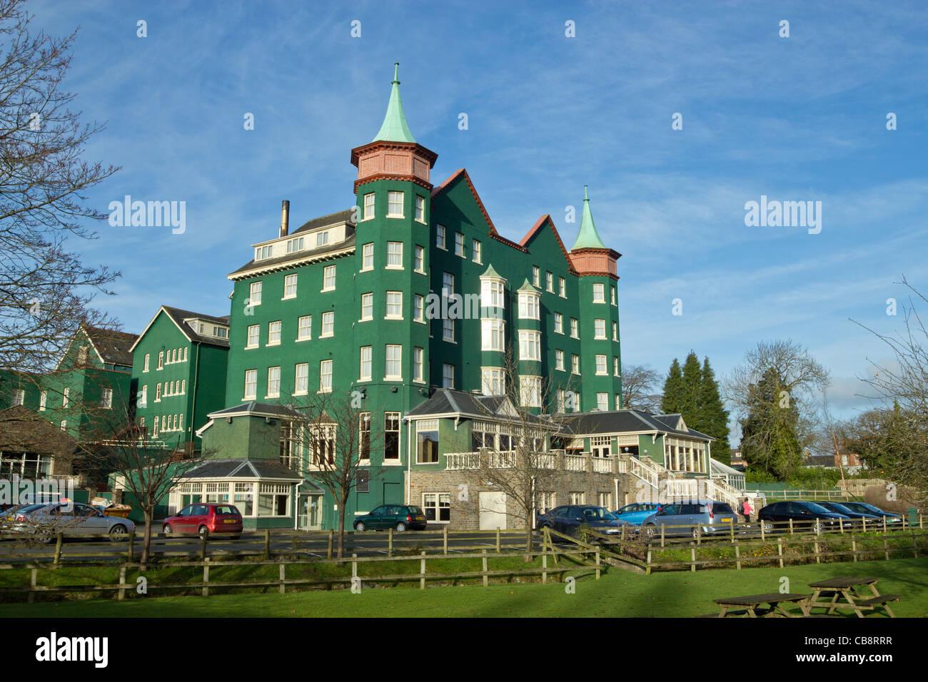 Das Hotel Metropole in Llandrindod Wells Powys.  Thia ist die Rückseite des Hotels. Stockbild