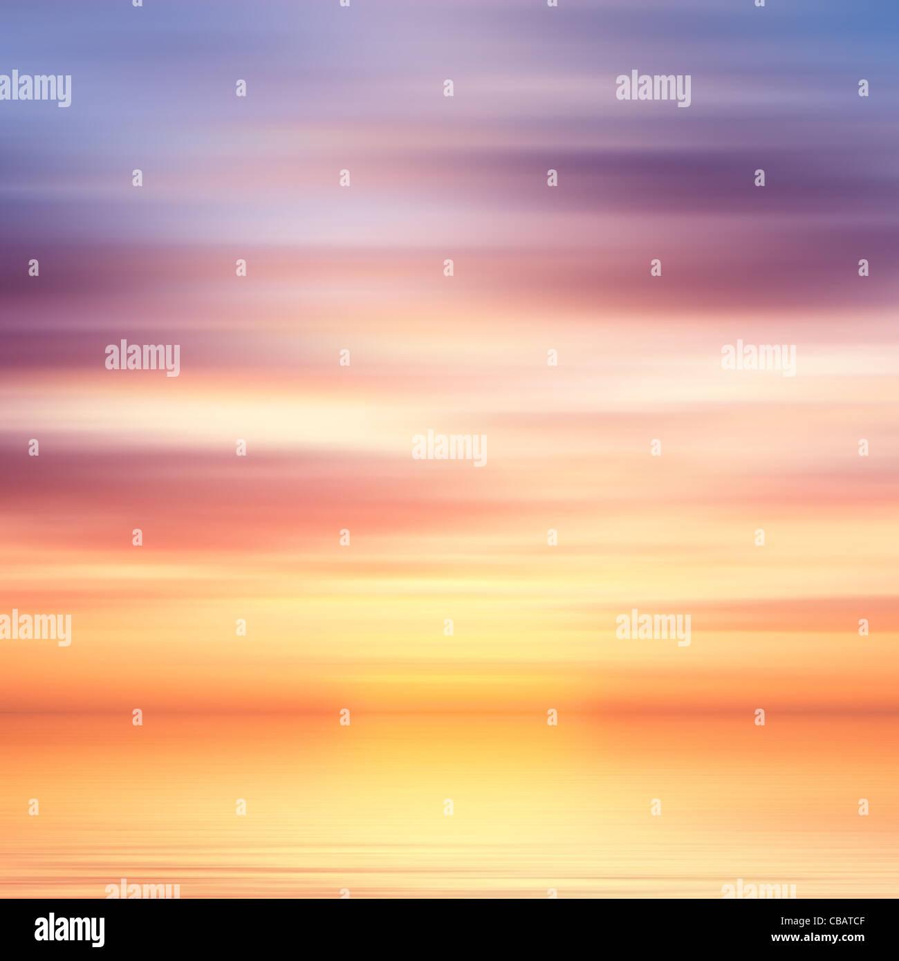 Schöne bunte Wasser und Himmel abstrakten Hintergrund Stockbild