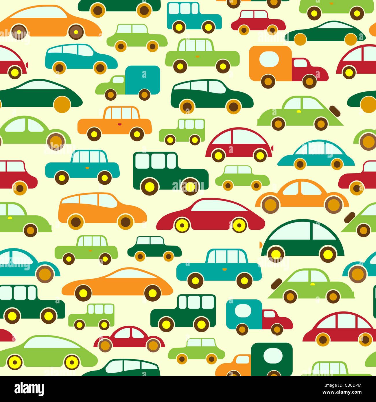 Auto Seamless Wallpaper oder Hintergrund Stockbild