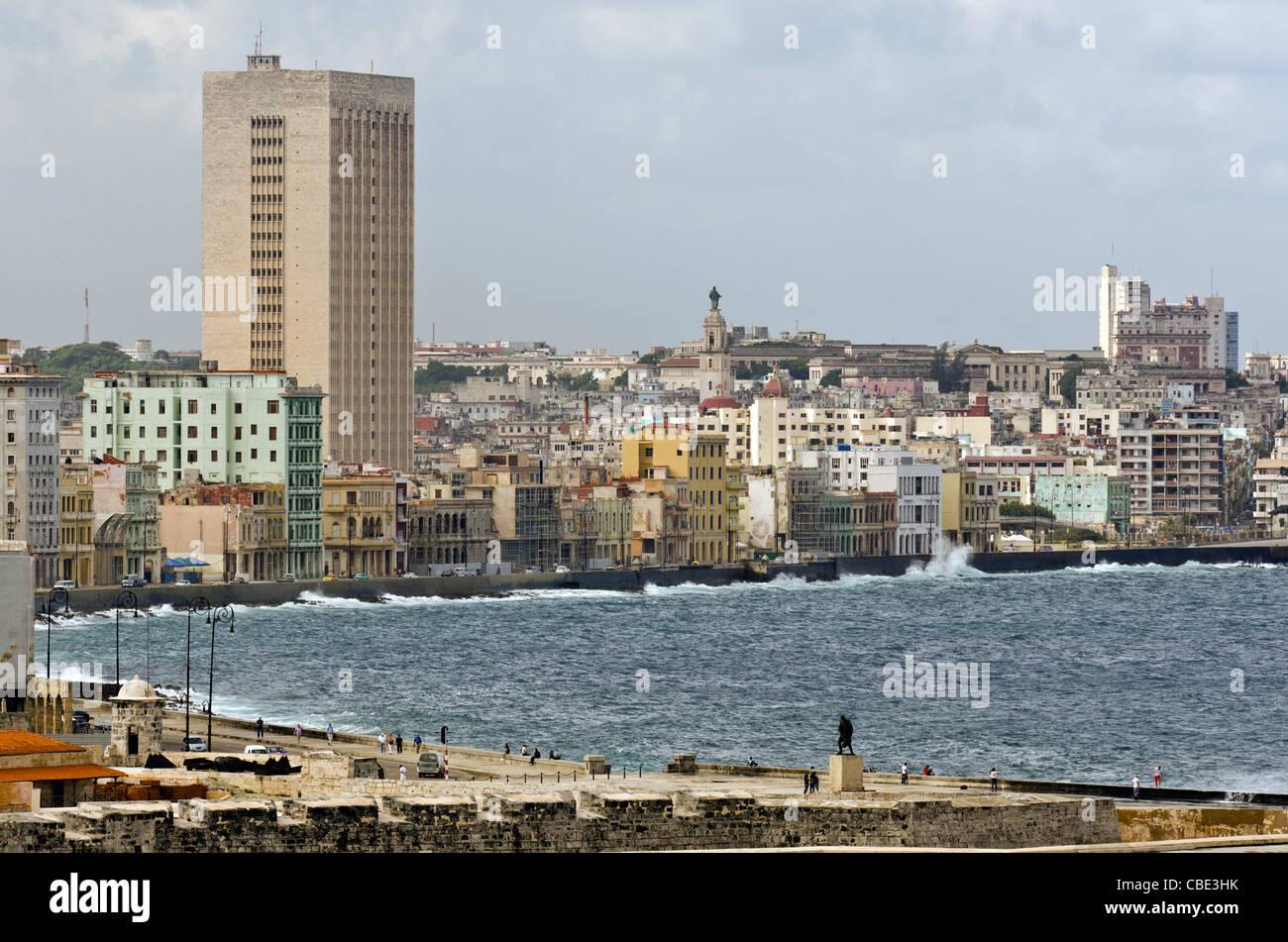 Waterfront Havanna Kuba Stockbild