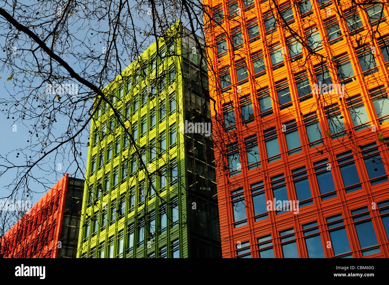 Abstrakte Gebäude Detail, Central St Giles, London, England, UK Stockbild