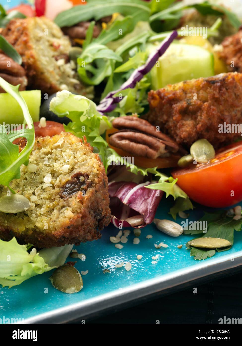 Falafel-Salat Stockbild