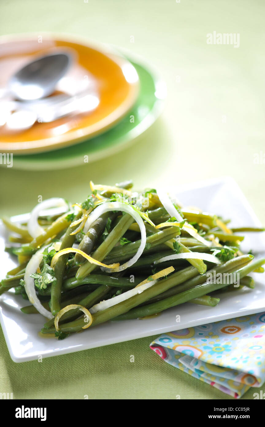 Grüne Bohnen-Salat Stockbild