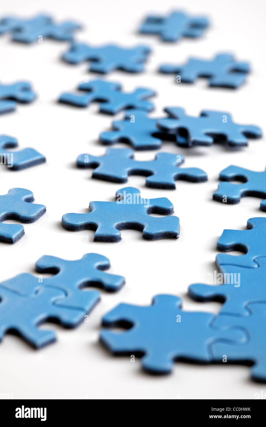 Puzzle-Teile Stockbild