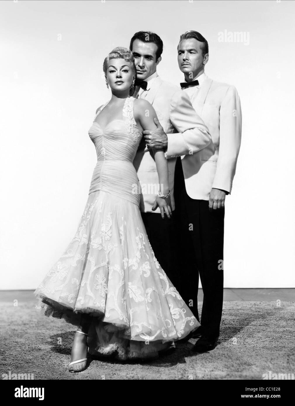 LANA TURNER RICARDO MONTALBAN & JOHN LUND LATIN LOVERS (1953) Stockbild