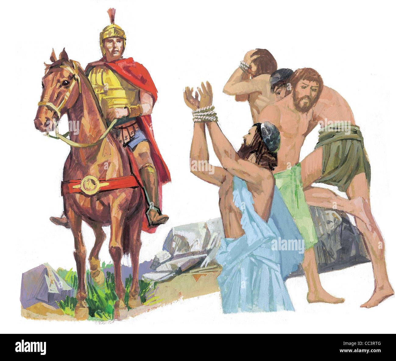 Römische Geschichte, 1. Jahrhundert. Der Kampagnen der Kaiser Trajan Eroberung der Daker (101-107) - Kaffee Stockbild