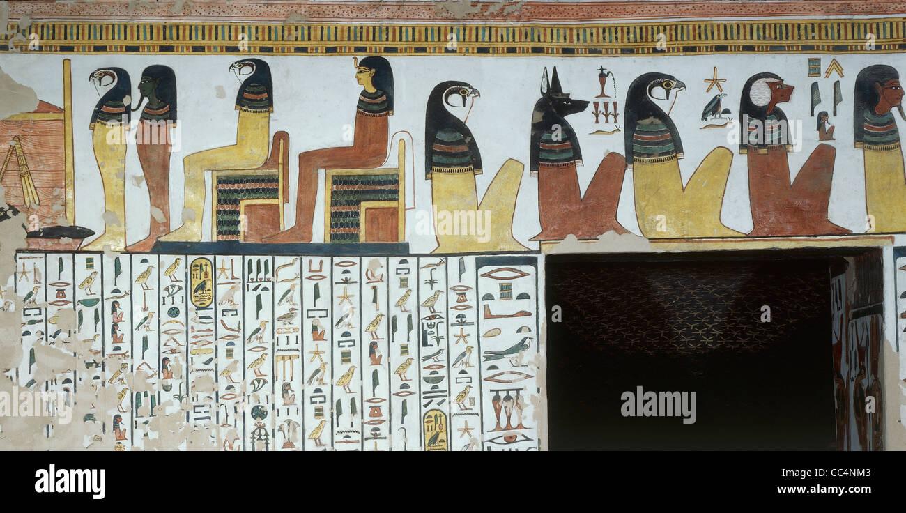 Ägypten - antike Theben (UNESCO-Weltkulturerbe, 1979) - Luxor - Tal der Königinnen - Grab der Nefertari, Stockbild