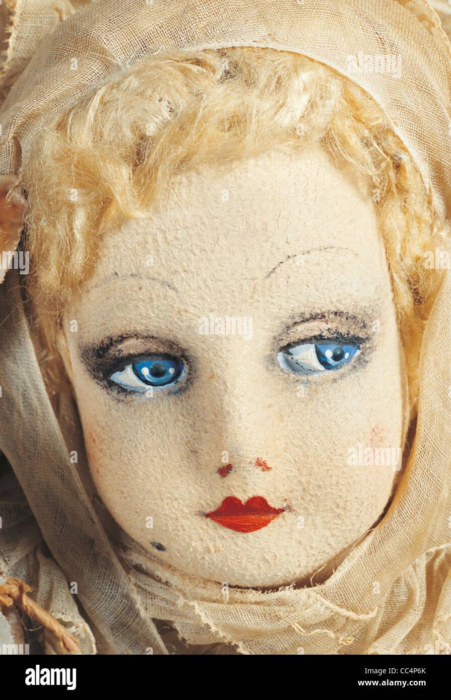 Sammeln Spielzeug des 20. Jahrhunderts. Puppe Puppenfabrik. 30 s. H. Cm. 58. Insbesondere Stockbild