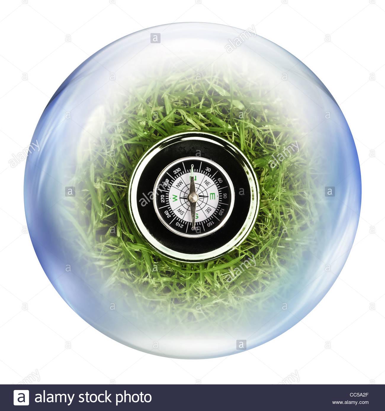 Kompass in Blase Stockbild