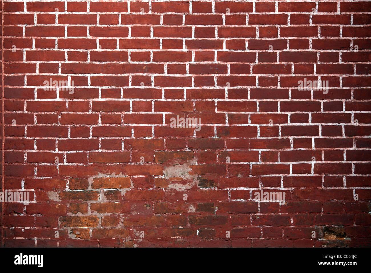 Alte rote Ziegel Wand Hintergrund. Stockbild