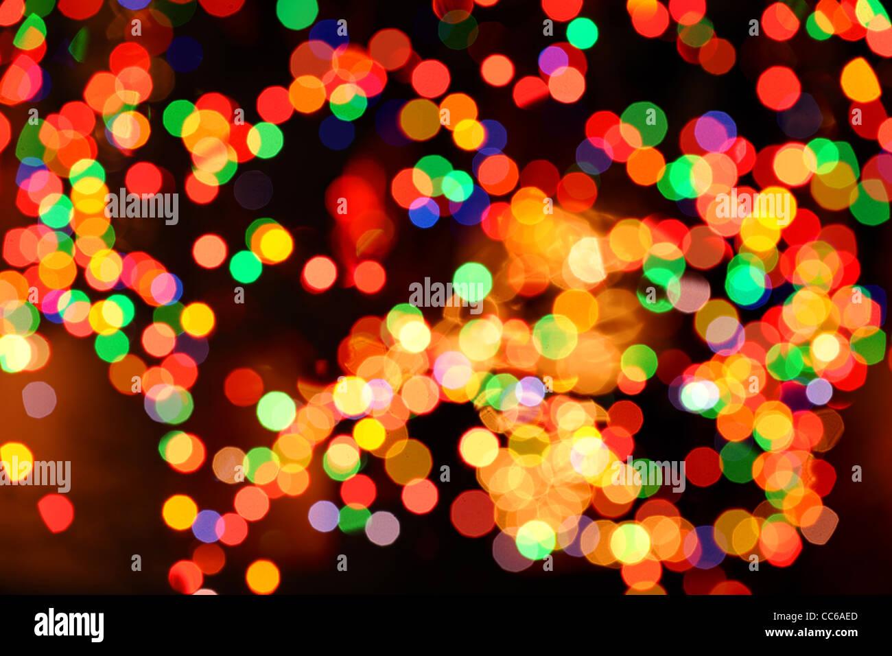 Weihnachten Licht aus der Fokus als Hintergrund Stockbild
