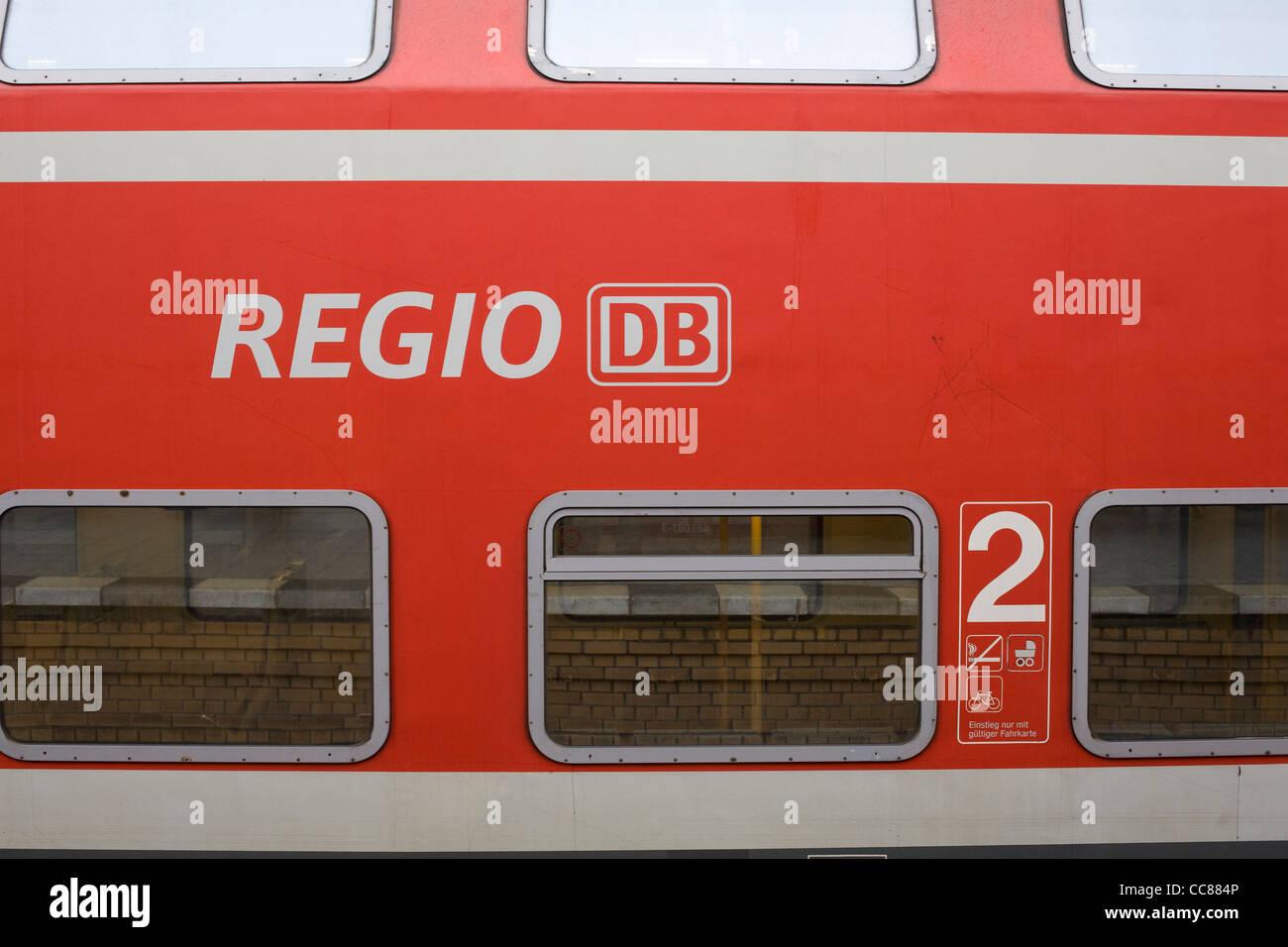 Regional Bahn, Deutschland Stockbild